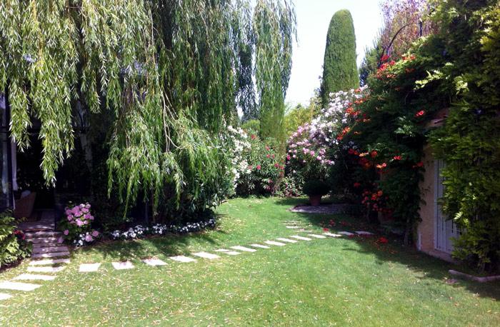 jardin fleuri de style provençal