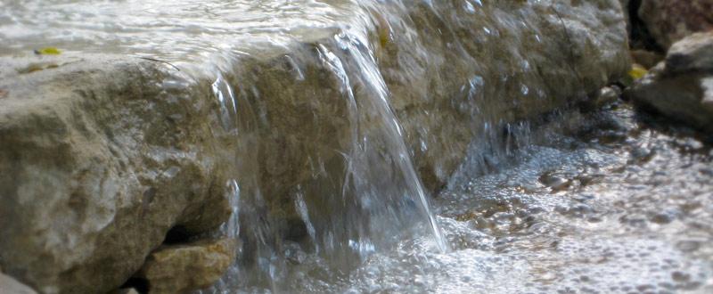 fontaine naturelle dans votre bassin